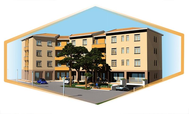 Progetto di insediamento residenziale Cortona AR 01