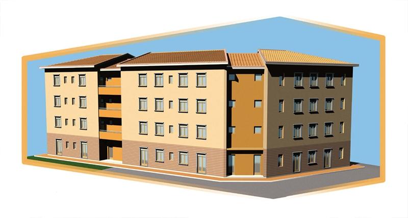 Progetto di insediamento residenziale Cortona AR 03