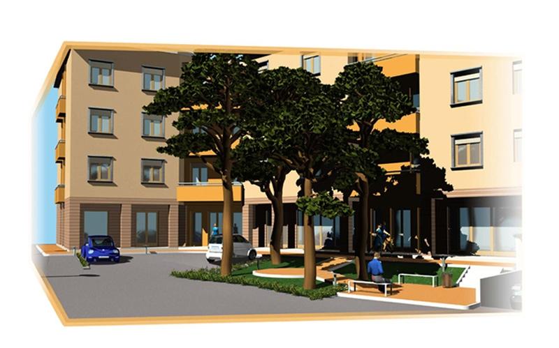 Progetto di insediamento residenziale Cortona AR 04