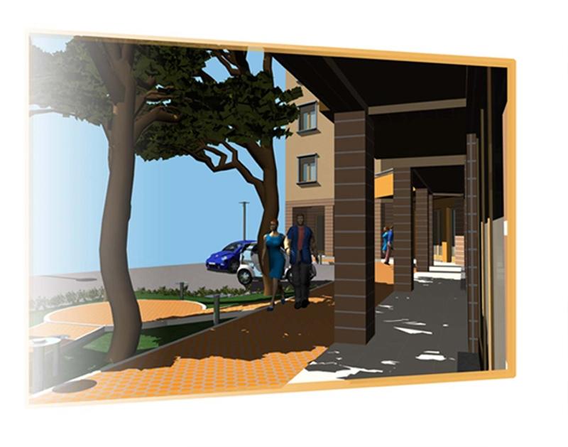 Progetto di insediamento residenziale Cortona AR 05