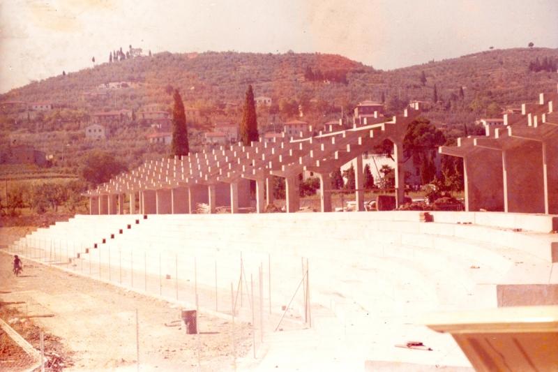 stadio comunale cast fno tribune prima la posa in opera di gradoni